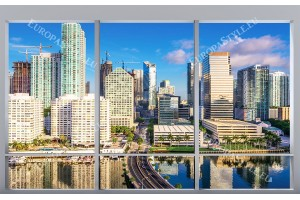 Фототапети изглед френски прозорец Америка ,Флорида
