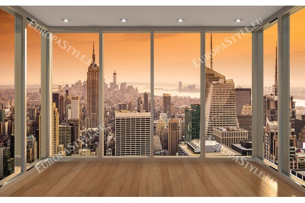 прозорец голд изглед Ню Йорк оранжев