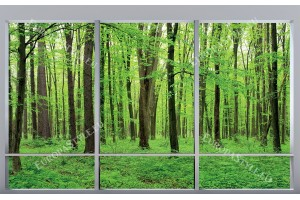 зелена гора модел прозорец 2 цвята дограма