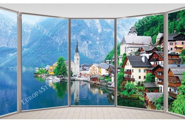 Австрия изглед езеро модел 2 прозорец