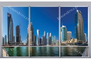 френски прозорец панорама от Дубай