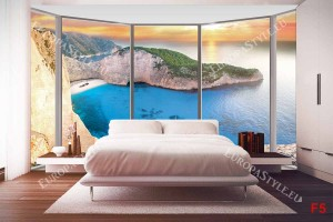 Фототапети прозорец средиземноморски залив