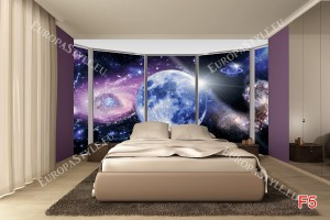 Фототапет прозорец овал гледка космос