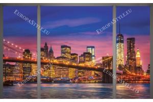 Фототапети изглед прозорец мост Ню Йорк
