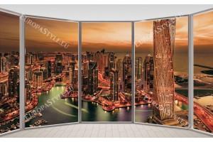 Фототапет-50% размер 330 см-210 см - Прозорец Дубай