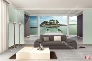 Фототапети красива гледка от стая на самотен остров