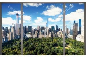 Фототапети прозорец с изглед на Ню Йорк Сентрал парк