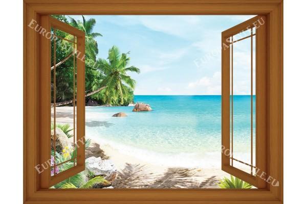 прозорец в 3 цвята дограма изглед тропик