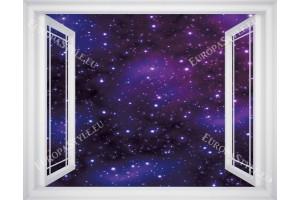 Фототапети прозорец изглед звездно небе в 3 цвята