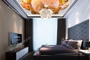 класическа рамка с орнаменти фреска за таван