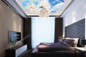 класическа рамка с орнаменти небе и дъга за таван