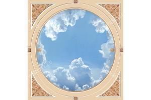 овален орнамент за таван с небе