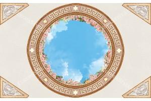 сфера с рози и небе за таван орнаменти