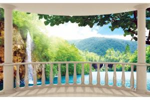 Фототапети тераса овал водопад