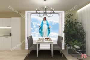 Фототапети статуя на Богородица в колони