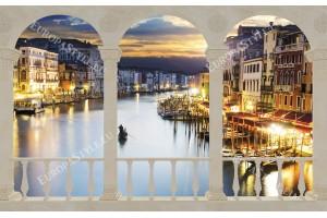 тераса с орнаменти изглед нощна венеция