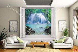 Фототапет красив водопад колони класик