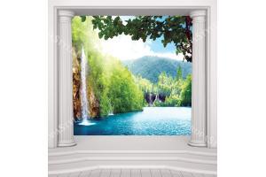 Фототапет водопад Тайланд колони