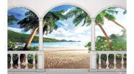 Фототапет тераса изглед палми
