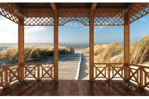 Фототапети пътека дюни плаж тераса в 2 варианта