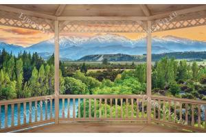 Фототапети дървена тераса изглед природа
