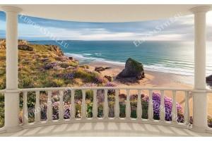 изглед през тераса морска панорама