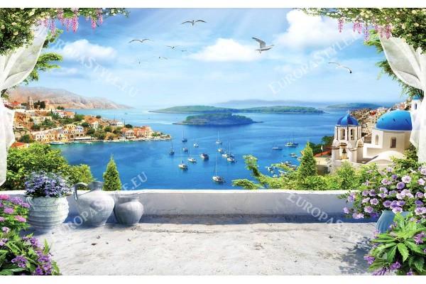 фантастична 3д композиция морска каменна тераса