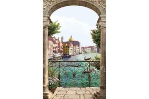 Фототапети 3д изглед старинни колони с Венеция