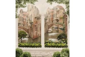 Фототапети стара Венеция изглед колони с камък