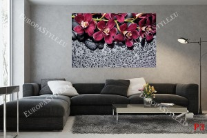 Фототапети спа с пурпурна клонка орхидея