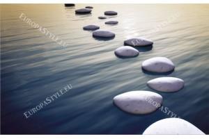 Фототапети морска пътека светли камъни в 2 цвята