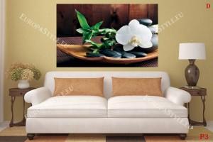 Фототапет спа с орхидея в кафяво