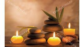 Фототапет спа композиция романтика със свещи