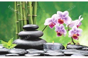 Фототапети спа композиция s клонка орхидея