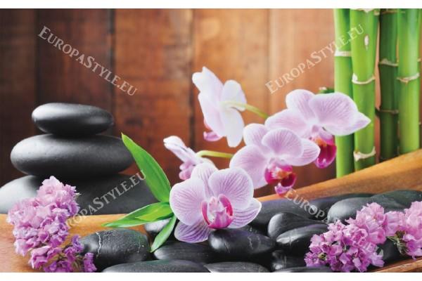 Фототапет спа композиция с бамбук и розов цвят