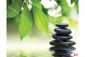 Фототапети бамбук и черни спа камъни
