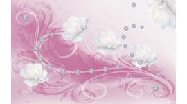 Фототапети диаманти и рози орнаменти в 2 варианта