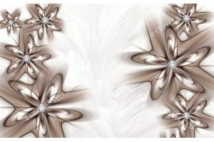 абстракция с диаманти в капучино на пера фон