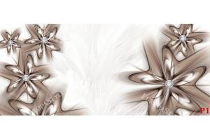 Фототапети абстракция с диаманти в капучино на пера фон