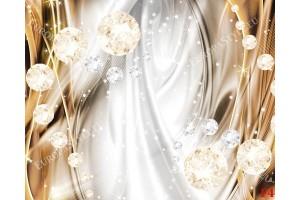 Фототапети 3D абстрактни диаманти в 2 цвята