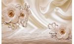 диамантени цветя в топъл нюанс копринен ефект