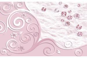 орнаменти с разпръснати диаманти в розово
