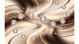 Фототапети диаманти на фон модерни вълни с 3д ефект