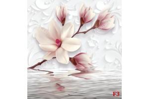 нежни магнолии с водно отражение в розов нюанс
