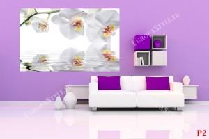 Фототапети бели орхидеи с водно отражение