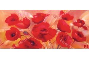 Фототапети рисувани алени макове
