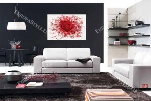 Фототапет роза червена арт