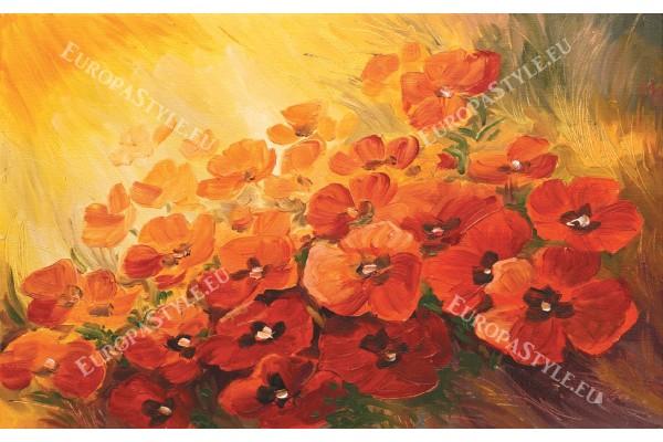 Фототапет рисувани огнени цветя
