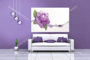 Фототапети лилава роза с водни елементи