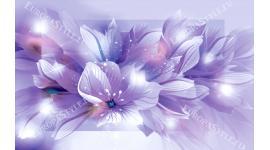 Фототапет композиция цветя в лилава гама